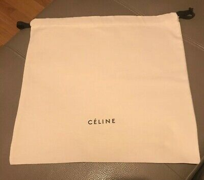 Celine Drawstring Cream Dust Bag Size 39cm x 37.5cm