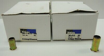 Partial Boxes of- Ideal 30-411 (qty48) & 30-412 (qty46) Crimp Sleeve FREE S&H c3