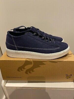 Lyle And Scott Mens Suede Blue Trainers Size 10 RRP:£80