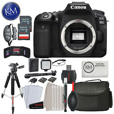Canon EOS 90D DSLR Camera (Body Only) with 32GB & Advance Striker Bundle