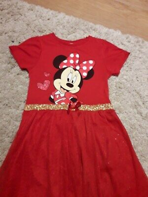 Girl's red Minnie Mouse dress. Age 7-8 years old. Used. Primark