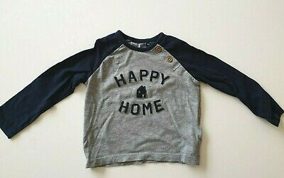 "TOM TAILOR Langarmshirt Longsleeve Gr 86 /""CRAZY LIKE DAD/"" in rot NEU"