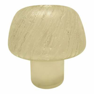 REDUCED Mid Century Modern Italian Mushroom Lamp Etched Wave Design circa 1970's