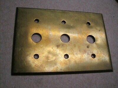 Antique 3 hole Single Solid Brass Push Button toggle Light Switch Cover Plate