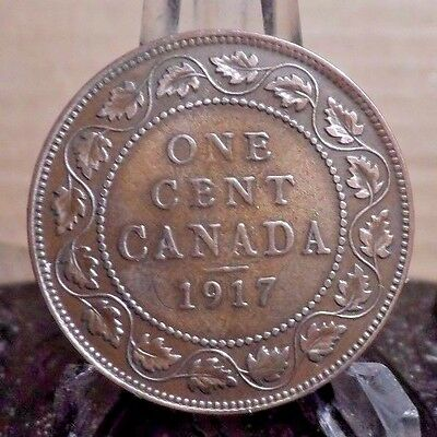 Circulated 1917 1 Cent Canadian Coin (82616)1