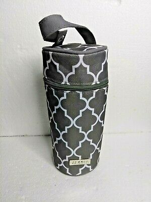 JJ Cole Single Bottle Pod Cooler Insulated J00799 Stone Arbor Dark Grey