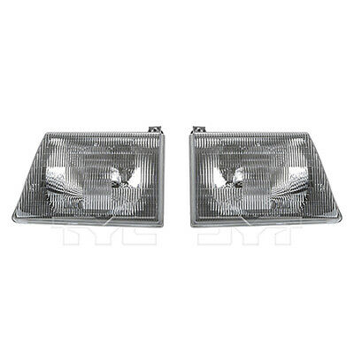 Fits 1997 - 2002 - Ford E - 250 Econoline Headlight Pair