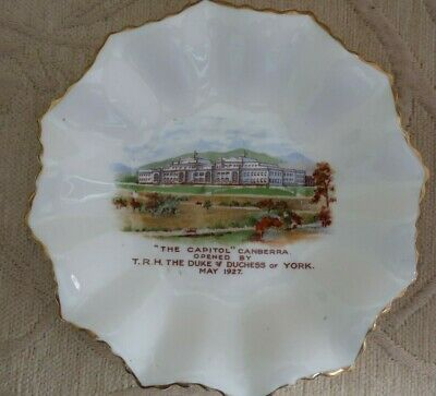 vintage 1920s AYNSLEY England DISH Opening of PARLIAMENT HOUSE CANBERRA ACT