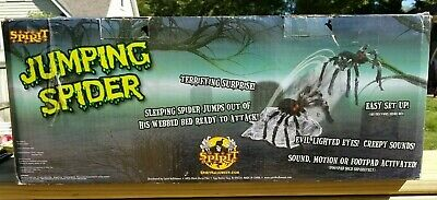 SEE VIDEO! Jumping Spider Hairy Tarantula Animated Halloween Prop Decoration