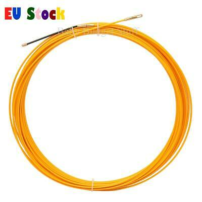 1x 10M/20M/30M 3mm Fiberglass Cable Fish Tape Reel Ducting Rodder Pulling Puller