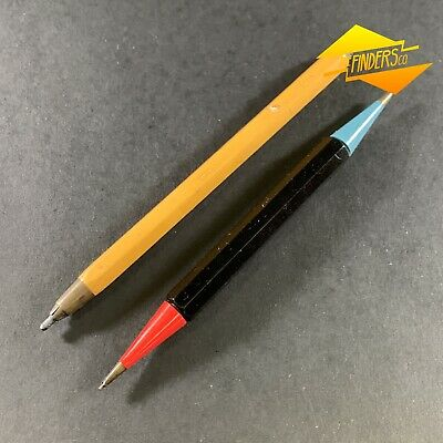 Lot X2 Vintage Interesting Mechanical Pencils Czechoslovakia Double Ended