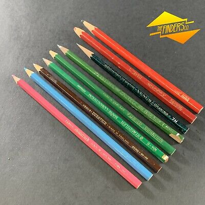 Lot X9 Vintage Used Grey-Lead Pencils American Pencil Co. Venus Durathin Usa