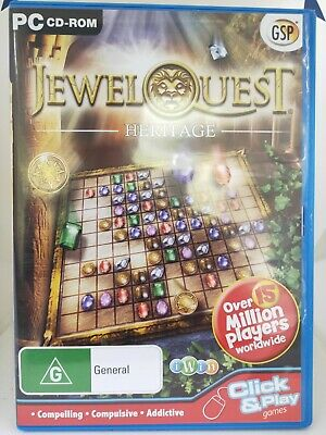 Jewel Quest - Heritage - PC CD-ROM - Gem Matching Game