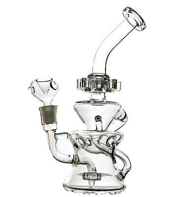 Rotating rings Bong Glass Water Pipes Beaker Bongs