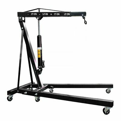 2 Ton Engine Crane Hydraulic Folding Hoist Stand Mobile Garage Workshop Lifter