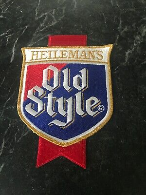 "Old Style Beer Patch 80s 8"" Heilemans Genuine Rare HTF Huge WI Chicago Jacket"