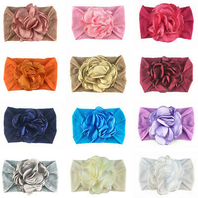 Infant Baby Girls Floral Headband Wide Elastic Band Newborn Hair Band Head Wrap