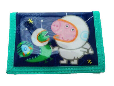 Christmas Peppa Pig George Cosmic Wallet - Xmas Trifold Money Coins Wallet Gift