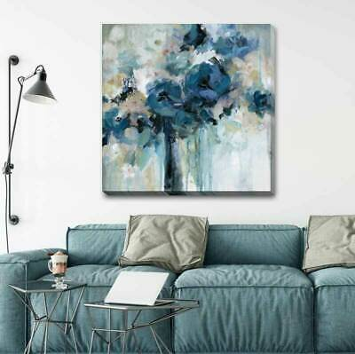 Midnight Splash Flower Stretched Canvas Print Framed Wall Decor Painting F110