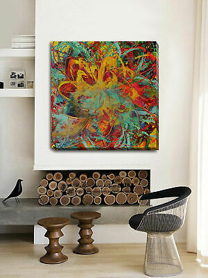 Abstract Stretched Canvas Print Framed Wall Art Home Decor Painting Vintage Gift