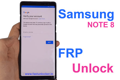Remot Google Account/FRP Lock Remove on Samsung galaxy note 8 galaxy s8 plus S8