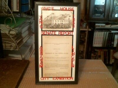 Abraham Lincoln Civil War Original Antique Document And Convention Print - 1863