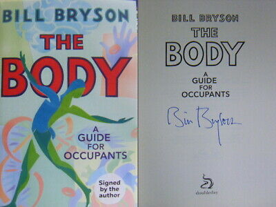 Signed Book The Body by Bill Bryson 1st Edition Hardback Red Edged 2019