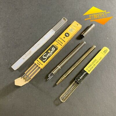 Lot X5 Vintage Propelling Pencil Leads Sciprto Sheaffer Kanoe Grey Leads Pens