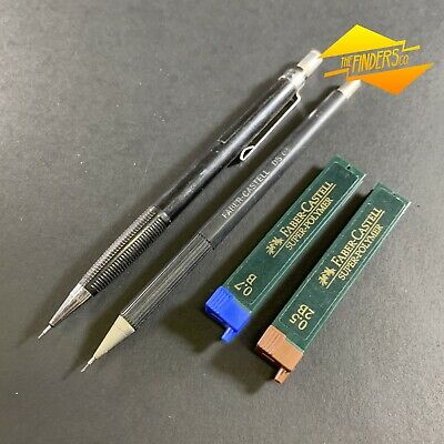 Vintage Faber-Casteel Ds 05 Clutch Pencil + 1 Other + Spare Leads Made Germany