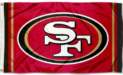 NEW San Francisco 49ers Red Flag Large Banner  3'X5' NFL FREE SHIPPING!