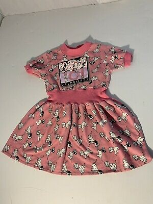🔴 90's Vintage Girls 101 Dalmatians Pink Dress Youth 2-4.