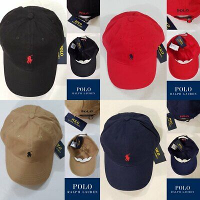 Ralph Lauren Adult Mens Baseball Cap/Hat Black,Blue,Khaki One Size (56cm) Unisex