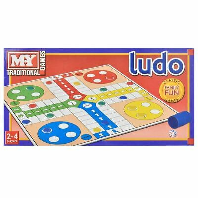 M.Y Full Size Traditional Classic Board Game Ludo Family Kids Fun Game - TY58
