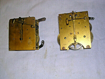 Clock  Parts  ,2  Movements  Spares  Or  Repair