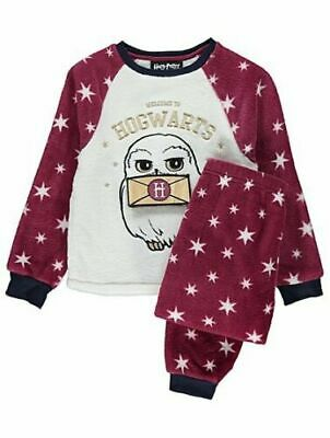 Girls Harry Potter Hogwarts Owl  Hedwig Fleece Pyjamas lift-the-flap design