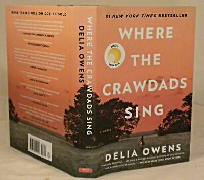 WHERE THE CRAWDADS SING, Delia Owens, SIGNED (title page) later Printing, New