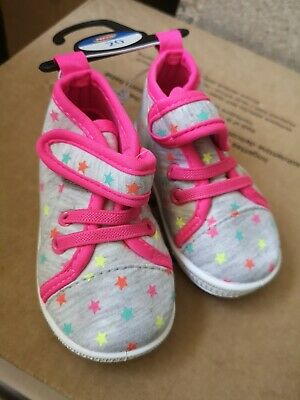 Baby Girl Shoes Size 20 Pink Sneakers Trainers NEW velcro fastening