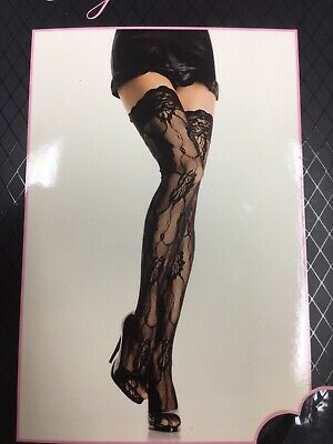 Black or White Leg Avenue Sheer Thigh Highs with Lace Top