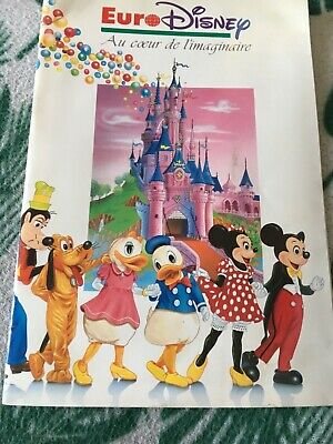 Rare Catalogue Livre Disney Souvenir Eurodisney 1992