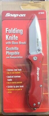 Snap On Tools Folding knife with Glass Break Stainless Blade  #871048  NEW