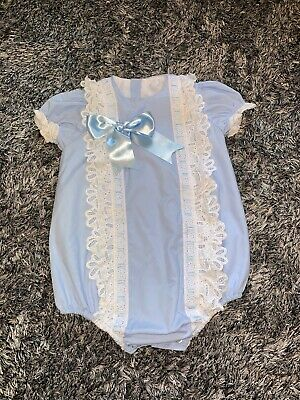 Immaculate - Sonata Spanish  Baby Blue & White Frill Romper - Age 3 Years