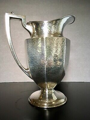 Sheffield EPNS Silverplate Pitcher - Hammered Mission Style