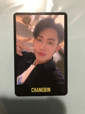 Changbin Black Boarder Stray Kids Cle 1 Miroh Official Photocard Photo Card