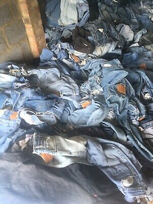 Unisex 500 Pcs Vintage Levi's  Jeans Wholesale Job Lot Random Colours Sizes
