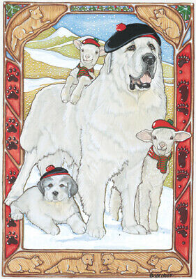 Great Pyrenees Christmas Cards Set of 10 cards & 10 envelopes