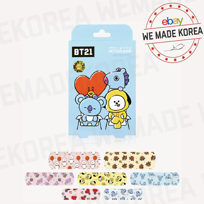 BT21 Character Pattern Kid Bandage 14~16ea 3types Official K-POP Authentic Goods