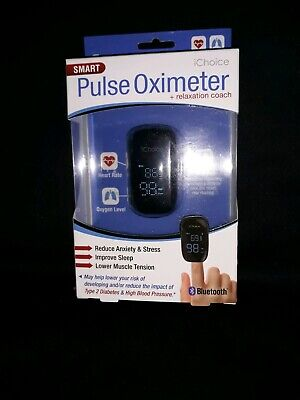 Pulse Oximeter W Relaxation Coach ichoice bluetooth EMT ER NURSE CARE GIVER LOOK