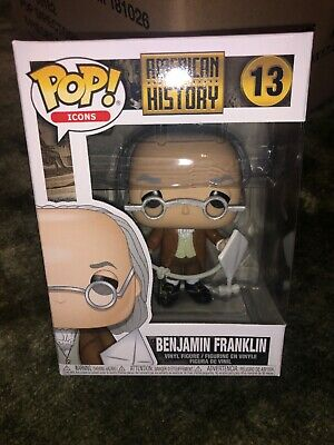 Funko Pop! American History #13 Benjamin Franklin Collectible Vinyl Figure NEW!