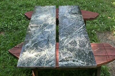 Black Green Marble Salvage Slab Conrad Hotel Massillon Ohio