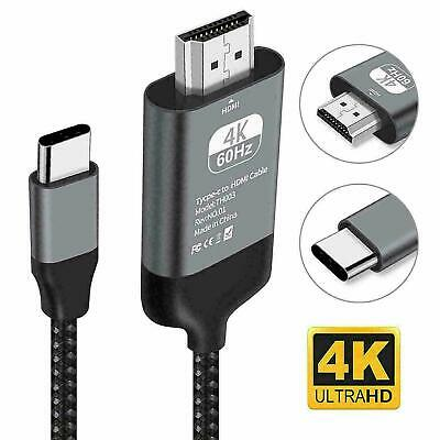 USB C to HDMI Cable USB Type C to HDMI 4K TV Cord For Samsung S10 S9 Macbook New